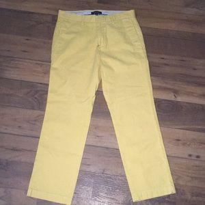 Yellow 31x30 Banana Republic Pants